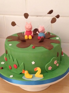 Peppa & George Muddy Puddles, chocolate mud cake